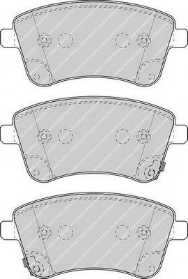 Комплект тормозных колодок, дисковый тормоз FERODO арт. FDB4339