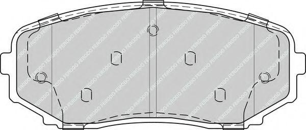 Комплект тормозных колодок, дисковый тормоз FERODO арт. FDB4365