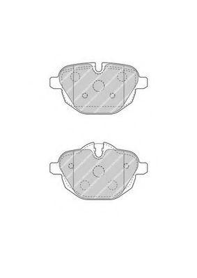 Комплект тормозных колодок, дисковый тормоз FERODO арт. FDB4376