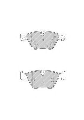 Комплект тормозных колодок, дисковый тормоз FERODO арт. FDB4380