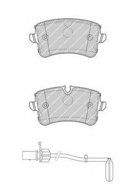 Комплект тормозных колодок, дисковый тормоз FERODO арт. FDB4393