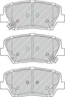 Комплект тормозных колодок, дисковый тормоз FERODO арт. FDB4396