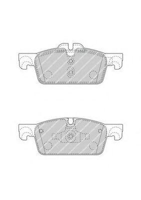 Комплект тормозных колодок, дисковый тормоз FERODO арт. FDB4405