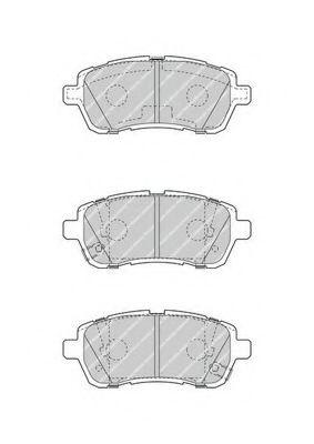 Комплект тормозных колодок, дисковый тормоз FERODO арт. FDB4426