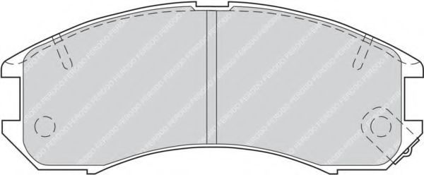 Комплект тормозных колодок, дисковый тормоз FERODO арт. FDB576