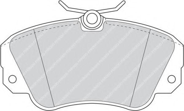 Комплект тормозных колодок, дисковый тормоз FERODO арт. FDB686