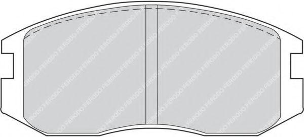 Комплект тормозных колодок, дисковый тормоз FERODO арт. FDB759