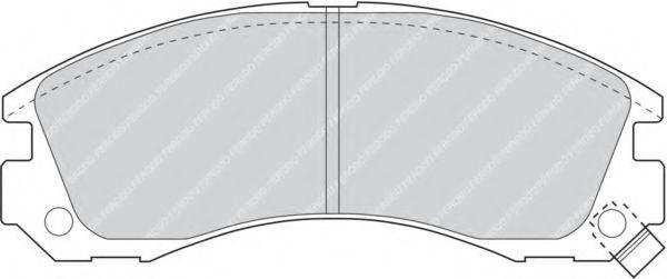 Комплект тормозных колодок, дисковый тормоз FERODO арт. FDB765