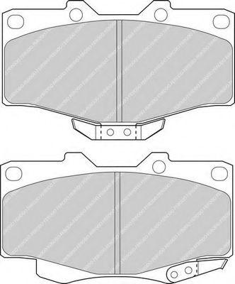 Комплект тормозных колодок, дисковый тормоз FERODO арт. FDB797