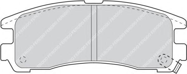 Комплект тормозных колодок, дисковый тормоз FERODO арт. FDB803