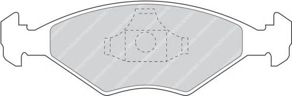 Комплект тормозных колодок, дисковый тормоз FERODO арт. FDB896