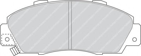 Комплект тормозных колодок, дисковый тормоз FERODO арт. FDB905