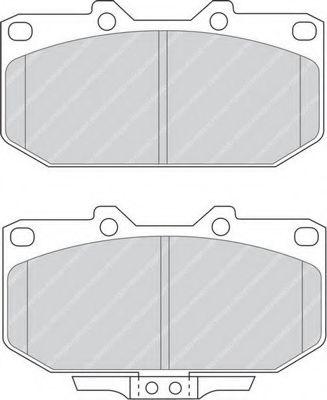Комплект тормозных колодок, дисковый тормоз FERODO арт. FDB986