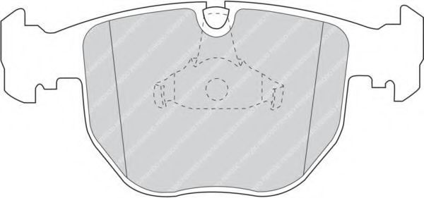Комплект тормозных колодок, дисковый тормоз FERODO арт. FDB997