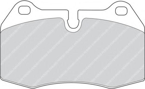 Комплект тормозных колодок, дисковый тормоз FERODO арт. FDB998