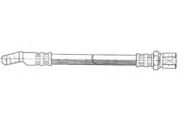 Тормозной шланг FERODO арт. FHY2007