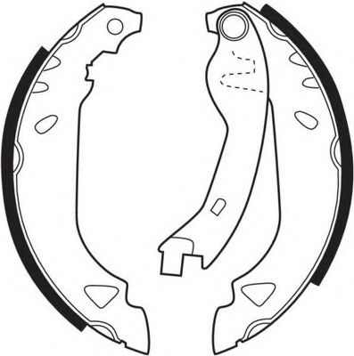 Комплект тормозных колодок FERODO арт. FSB263