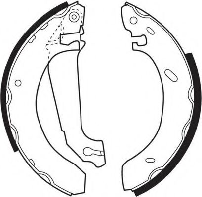 Комплект тормозных колодок FERODO арт.