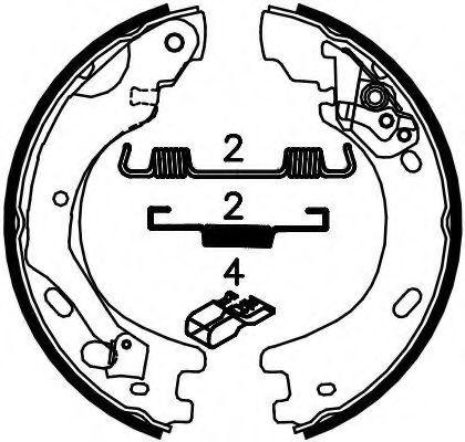 Колодки гальмівні барабанні Ferodo FSB4033