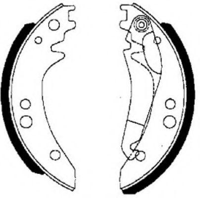 Комплект тормозных колодок FERODO арт. FSB615