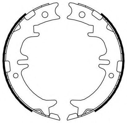 Колодки гальмівні барабанні Ferodo FSB674