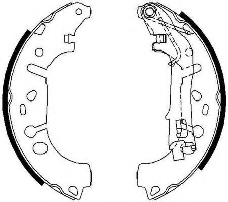 Колодки гальмівні барабанні Ferodo FSB682