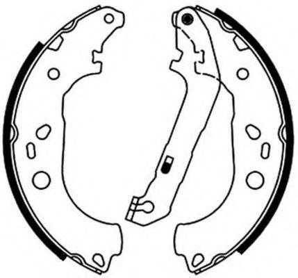 Комплект тормозных колодок FERODO арт. FSB687