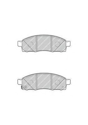 Комплект тормозных колодок, дисковый тормоз FERODO арт. FVR4415
