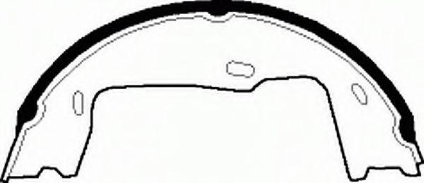 Колодки гальмівні барабанні Ferodo FSB227