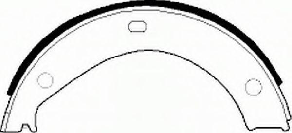 Колодки гальмівні барабанні Ferodo FSB272