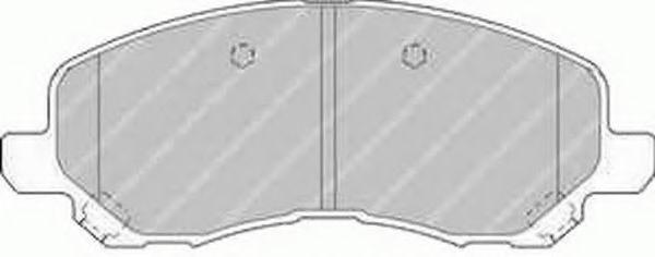Комплект тормозных колодок, дисковый тормоз FERODO арт. FDB1621