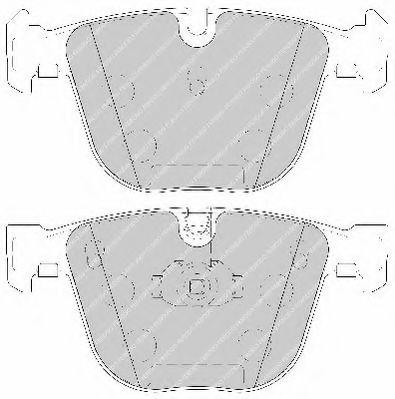 Комплект тормозных колодок, дисковый тормоз FERODO арт. FDB1672