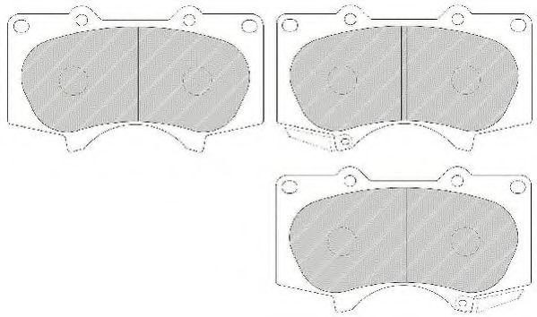 Комплект тормозных колодок, дисковый тормоз FERODO арт. FDB1698