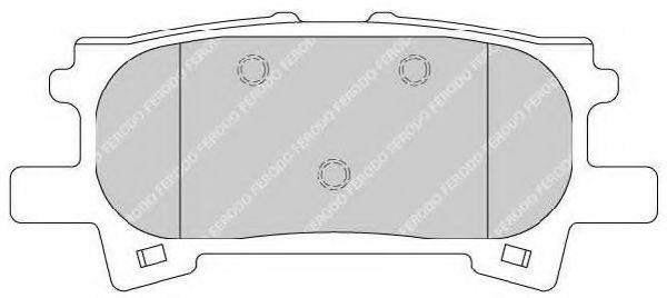 Комплект тормозных колодок, дисковый тормоз FERODO арт. FDB1731