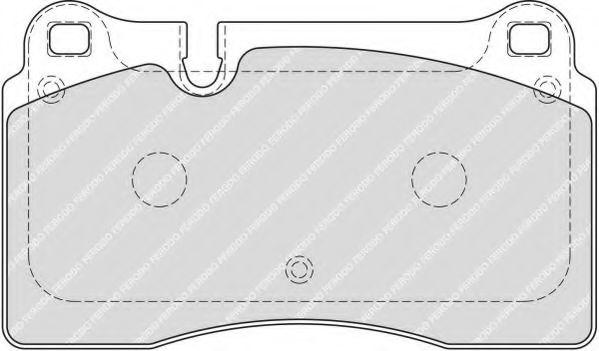 Комплект тормозных колодок, дисковый тормоз FERODO арт. FDB1877