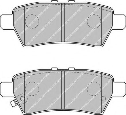 Комплект тормозных колодок, дисковый тормоз FERODO арт. FDB1882
