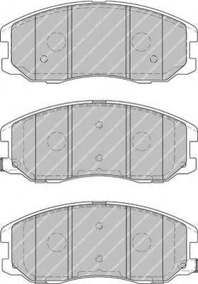 Комплект тормозных колодок, дисковый тормоз FERODO арт. FDB1934