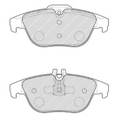 Комплект тормозных колодок, дисковый тормоз FERODO арт. FDB1980