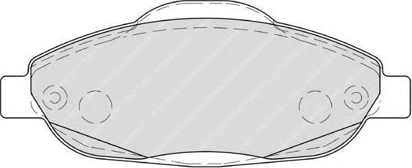 Комплект тормозных колодок, дисковый тормоз FERODO арт. FDB4003