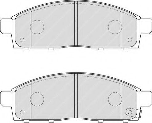 Комплект тормозных колодок, дисковый тормоз FERODO арт. FDB4023