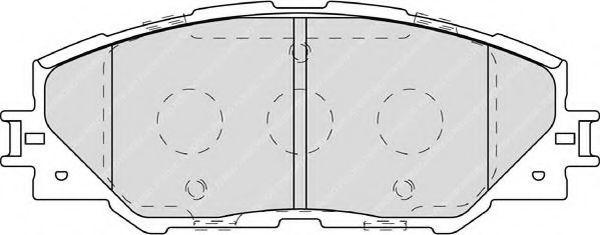 Комплект тормозных колодок, дисковый тормоз FERODO арт. FDB4136
