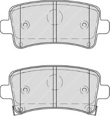 Комплект тормозных колодок, дисковый тормоз FERODO арт. FDB4209