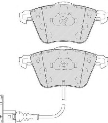 Комплект тормозных колодок, дисковый тормоз FERODO арт. FDB4223