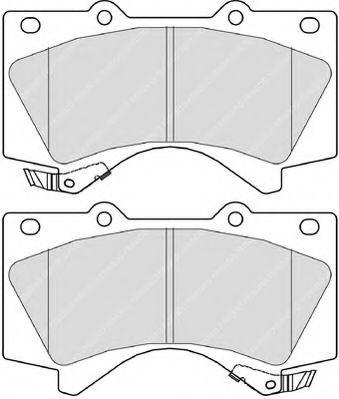 Комплект тормозных колодок, дисковый тормоз FERODO арт. FDB4229