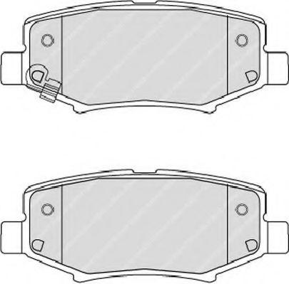 Комплект тормозных колодок, дисковый тормоз FERODO арт. FDB4239