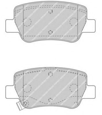 Комплект тормозных колодок, дисковый тормоз FERODO арт. FDB4411