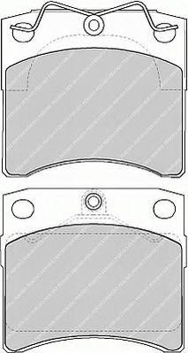 Комплект тормозных колодок, дисковый тормоз FERODO арт. FVR1131