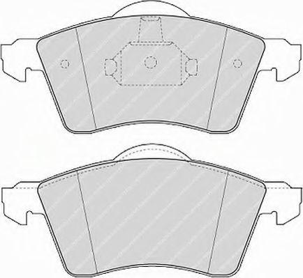 Комплект тормозных колодок, дисковый тормоз FERODO арт. FVR1163