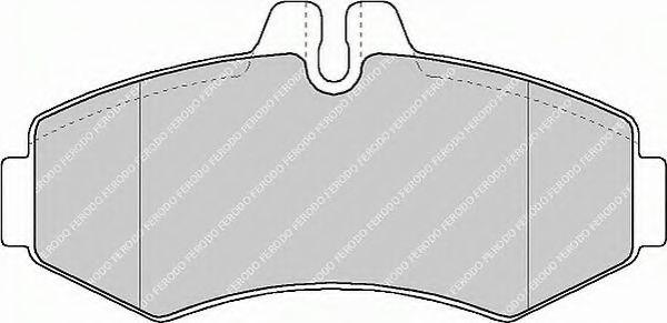Комплект тормозных колодок, дисковый тормоз FERODO арт. FVR1304