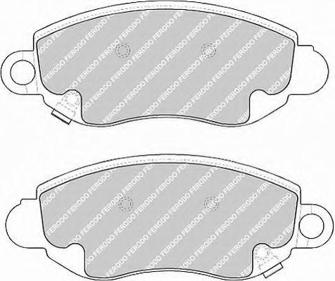 Комплект тормозных колодок, дисковый тормоз FERODO арт. FVR1381